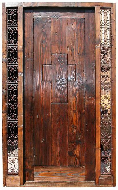Door Peep Cross Entry Shaped Doors Exterior