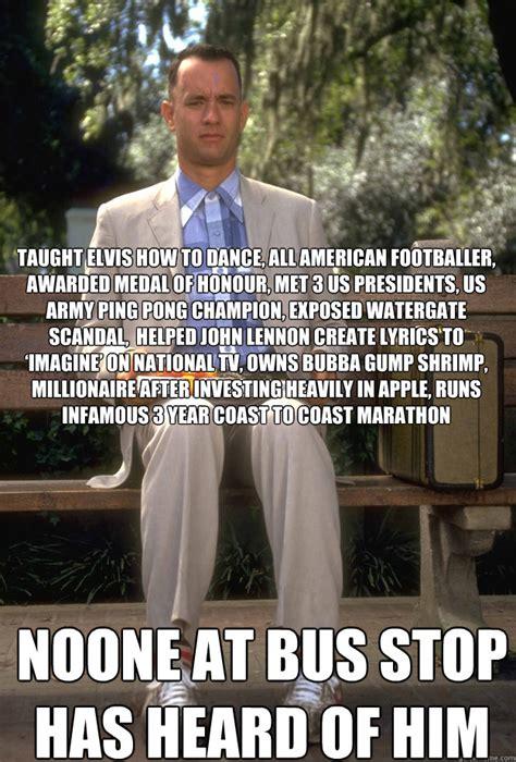 Forrest Gump Rain Meme - taught elvis how to dance all american footballer awarded medal of honour met 3 us presidents
