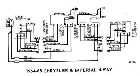 power seat wiring diagram of 1964 65 chrysler and imperial 4 way 60182 circuit and wiring