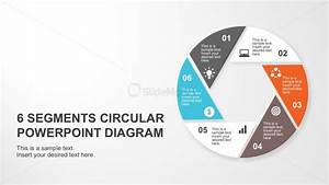 Flat Design Circle Diagram Powerpoint Cover Slide