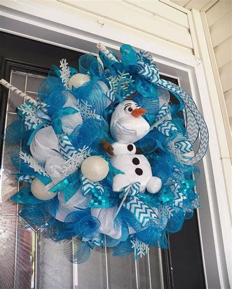 frozen wreath  olaf frozen decoration