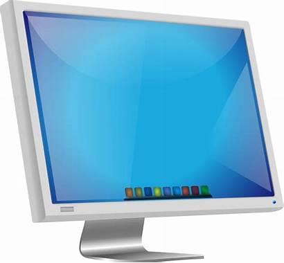 Monitor Clip Screen Clipart Mac Computer Desktop