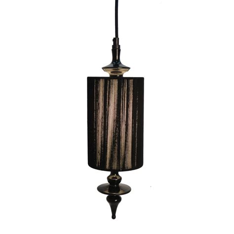shop style selections 5 in w black mini pendant light with