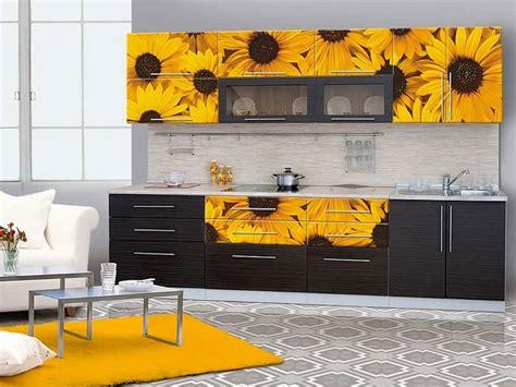Kitchen Cabinet With Sunflower Kitchen Theme Ideas Plus