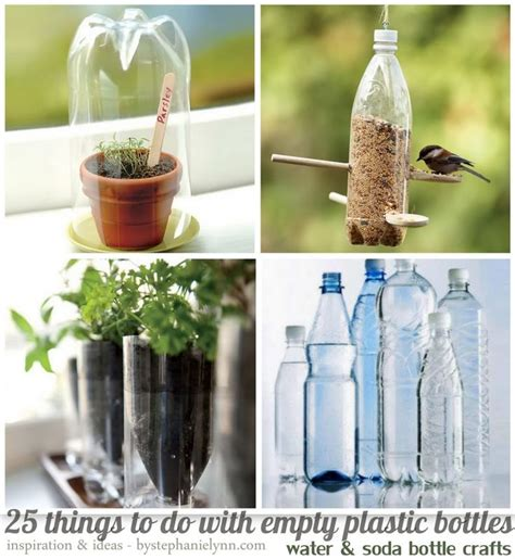 25 Things To Do With Empty Plastic Bottles {water & Soda