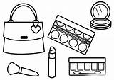Makeup Coloring Pages Glitter Printable Cosmetic Getdrawings Getcolorings sketch template