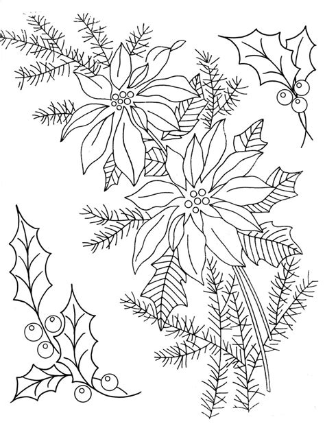 holly poinsettia embroidery patterns happy holidays