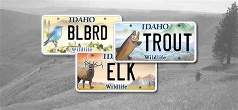 idaho license plates focus  wildlife  spokesman review