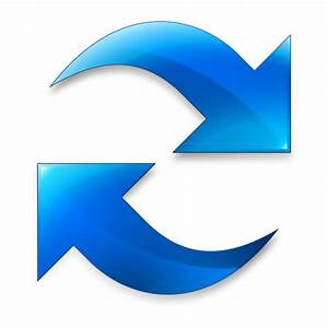 blue refresh button icon – Free Icons Download