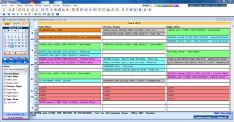 appointment schedule screenshots mica informational systems winston salem nc mica information systems