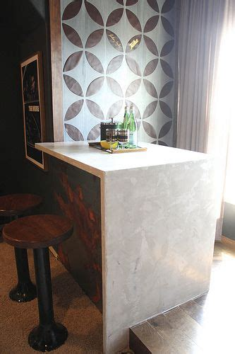 DIY waterfall edge concrete marble look countertops with
