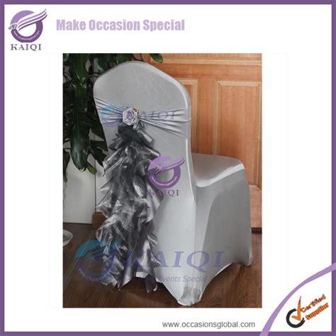 sale 100pcs silver chair cover sashes organza taffeta