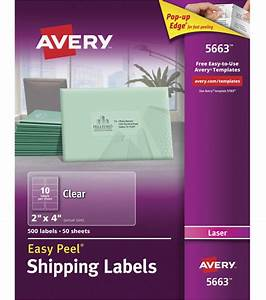 avery easy peel permanent adhesive address labels clear With avery 2x4 clear labels