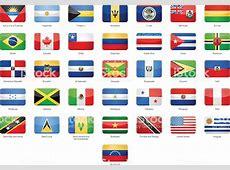 Ilustración de Norte América Central Y América Del