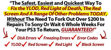 how to fix yellow light of death ps3 it to have the yellow light or red screen of death