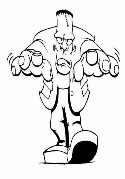 Frankenstein Coloring Halloween Pages Cartoon Printable Mr