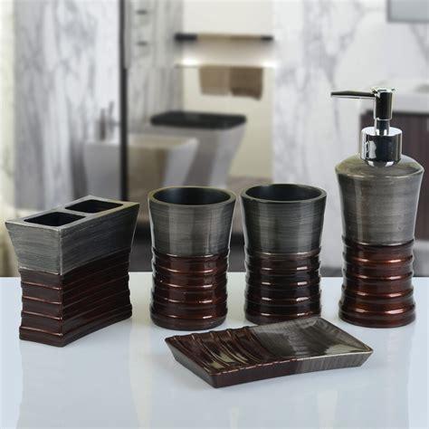 badzubeh 246 r bad accessoires sets eu lager barock design bad accessoire set 5 teilig resin