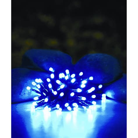 b m gt 50 solar led string lights blue 254204
