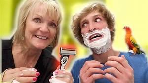 I LET MY MOM SHAVE MY FACE! (Bad Idea) - YouTube