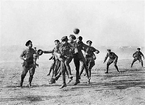 christmas trenches truce moment football troops english
