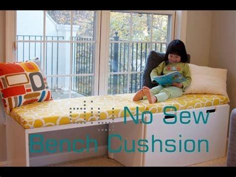 how to make a bench cushion diy no sew bench cushion seat window seat cushion without