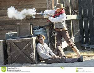 A Gunfight At Old Tucson, Tucson, Arizona Editorial ...