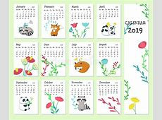 Get Blank Cute Printable Calendar 2019 Template August