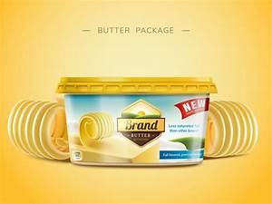 Butter package poster vector 01 free download