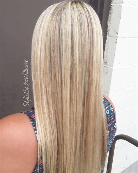 perfect natural blonde foil highlights  toned