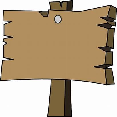 Plain Wood Empty Signpost Clip Vector Signal