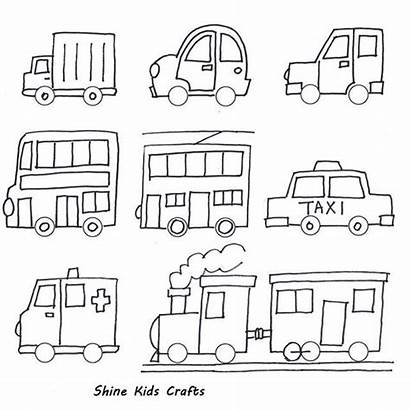Drawing Easy Simple Draw Drawings Coloring Vehicles