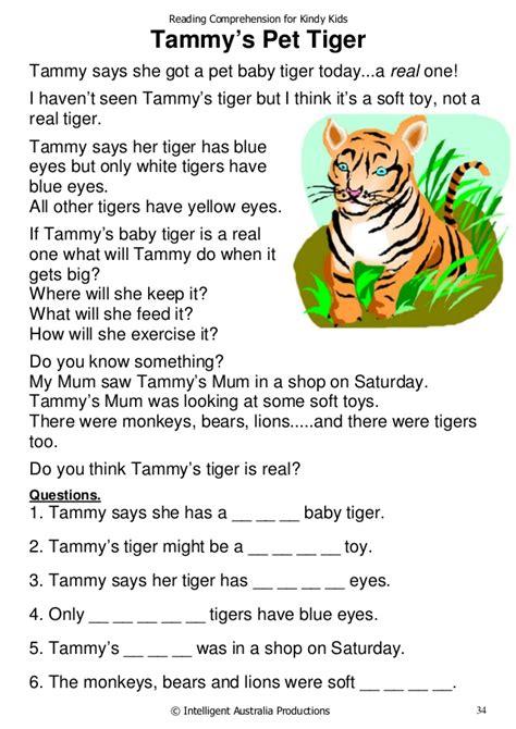 reading comprehension  kindy kids