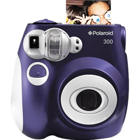 with instant photo polaroid 300 instant purple polpic300p b h photo