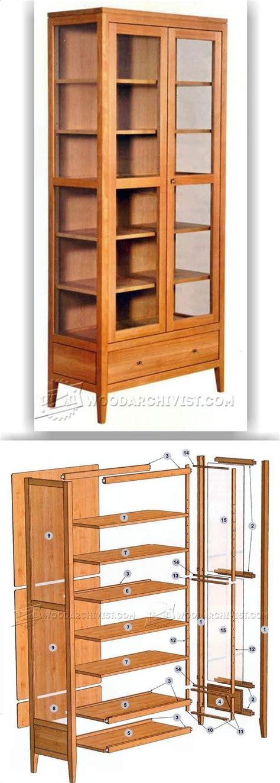showcase cabinet plans furniture plans  projects woodarchivistcom wood splinters