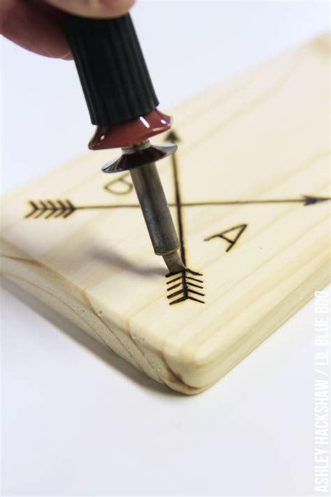 diy rustic personalized wood cutting board