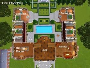 free mansion floor plans mod the sims georgian mansion