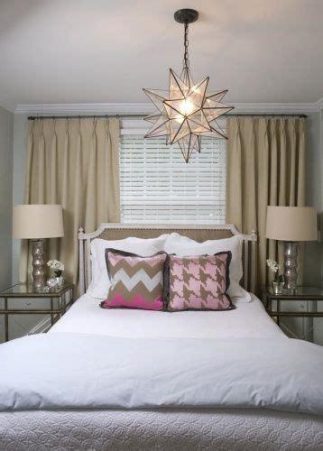 liz carroll interiors chic guest bedroom bed  front