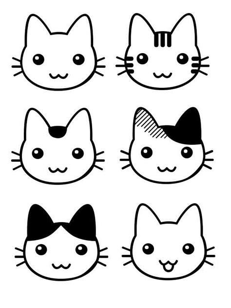 Tutoriel de dessin pour un manga fille : Patron Tetes Chats …   Tete De Chat Dessin, Dessin Chat tout Dessin De Chat Simple ...