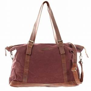 Leder Reisetasche Damen : leconi le2013 weekender shopper aus canvas in bordeaux ~ Watch28wear.com Haus und Dekorationen