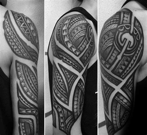 sleeve tribal tattoos  men masculine design ideas