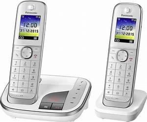 Telefon Weiß Schnurlos : schnurloses telefon analog panasonic kx tgj322gw anrufbeantworter freisprechen ~ Eleganceandgraceweddings.com Haus und Dekorationen