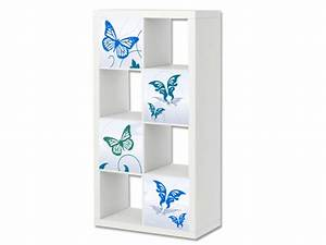 Ikea Regal Malm : blue butterfly m bel aufkleber expedit kallax stikkipix ~ Michelbontemps.com Haus und Dekorationen