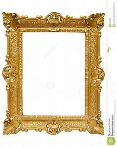 Plastic Golden Picture Frame W/ Path Royalty Free Stock