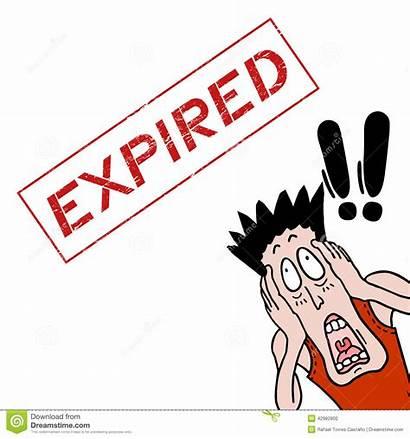 Expired Expiration Clip Clipart Terror Vector Date