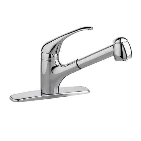 single kitchen faucet with sprayer standard colony single handle pull out