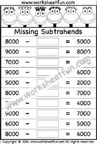 36 Best Images About Subtraction Worksheets On Pinterest  First Grade Worksheets, Math And Paper