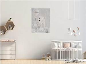Decoration Nuage Chambre Bébé : tableau enfant b b ours polaire dans les nuages enfant b b tableau enfant b b decoroots ~ Teatrodelosmanantiales.com Idées de Décoration