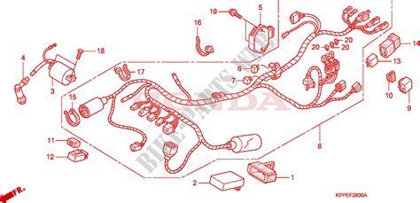 wire harness cbr125r rs rw5 rw6 rw8 for honda cbr 125 2004 honda motorcycles atvs genuine