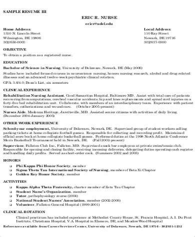 Nursing Resume Objective Statement
