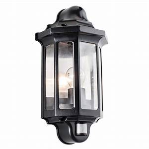 buy nordlux luxembourg outdoor wall light with pir sensor With pir outdoor wall lights homebase